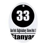 33 Stanyan (Classic) Oval Ornament