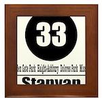 33 Stanyan (Classic) Framed Tile