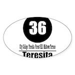 36 Teresita (Classic) Oval Sticker