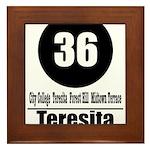36 Teresita (Classic) Framed Tile