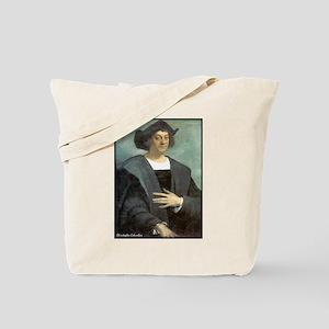 "Faces ""Columbus"" Tote Bag"