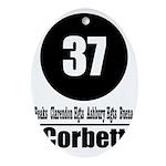 37 Corbett Oval Ornament