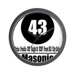 43 Masonic (Classic) Wall Clock