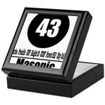43 Masonic (Classic) Keepsake Box