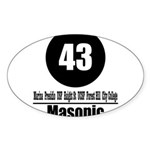 43 Masonic (Classic) Oval Sticker