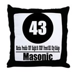 43 Masonic (Classic) Throw Pillow