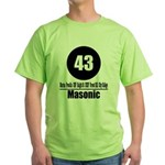 43 Masonic (Classic) Green T-Shirt