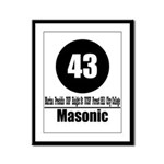43 Masonic (Classic) Framed Panel Print
