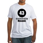 43 Masonic (Classic) Fitted T-Shirt