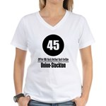 45 Union-Stockton (Classic) Women's V-Neck T-Shirt