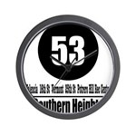 53 Southern Heights (Classic) Wall Clock