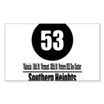 53 Southern Heights (Classic) Rectangle Sticker