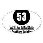 53 Southern Heights (Classic) Oval Sticker