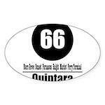 66 Quintara (Classic) Oval Sticker