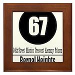 67 Bernal Heights Framed Tile