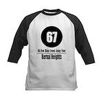 67 Bernal Heights Kids Baseball Jersey