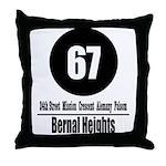 67 Bernal Heights Throw Pillow
