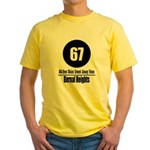 67 Bernal Heights Yellow T-Shirt
