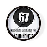 67 Bernal Heights Wall Clock
