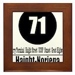 71 Haight-Noriega (Classic) Framed Tile