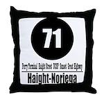 71 Haight-Noriega (Classic) Throw Pillow