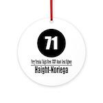 71 Haight-Noriega (Classic) Ornament (Round)