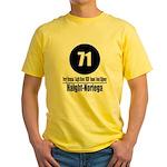 71 Haight-Noriega (Classic) Yellow T-Shirt