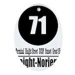 71 Haight-Noriega (Classic) Oval Ornament