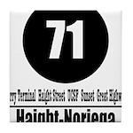 71 Haight-Noriega (Classic) Tile Coaster