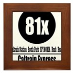 81x Caltrain Express Framed Tile