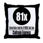 81x Caltrain Express Throw Pillow