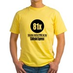 81x Caltrain Express Yellow T-Shirt