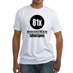 81x Caltrain Express Fitted T-Shirt