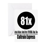 81x Caltrain Express Greeting Cards (Pk of 10)