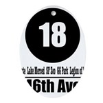 18 46th Ave (Classic) Oval Ornament