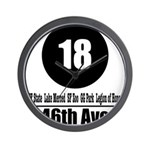 18 46th Ave (Classic) Wall Clock