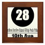 28 19th Ave (Classic) Framed Tile