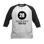 28 19th Ave (Classic) Kids Baseball Jersey