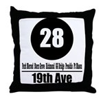 28 19th Ave (Classic) Throw Pillow