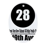 28 19th Ave (Classic) Oval Ornament