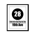 28 19th Ave (Classic) Framed Panel Print