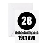 28 19th Ave (Classic) Greeting Cards (Pk of 10)