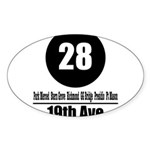 28 19th Ave (Classic) Oval Sticker