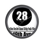 28 19th Ave (Classic) Wall Clock