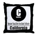 C California Cable Car (Class Throw Pillow