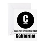 C California Cable Car (Class Greeting Cards (Pk o