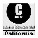 C California Cable Car (Class Tile Coaster