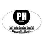 PH Powell-Hyde Cable Car (Cla Oval Sticker