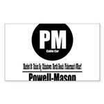 PM Powell-Mason Cable Car (Cl Rectangle Sticker