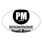 PM Powell-Mason Cable Car (Cl Oval Sticker